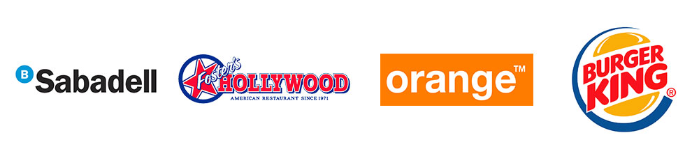 clientes como Fosters Hollywood u Orange en eventos de marca